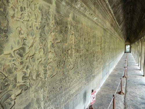 Bas relief at Angkor Wat