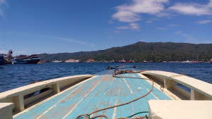 Boat to Lembeh from mainland